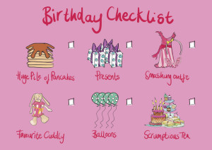 Birthday Girl Checklist
