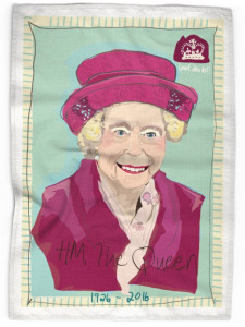 Blue Queen Tea Towel