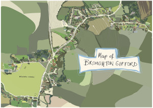 Broughton Gifford Map