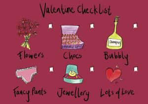Valentine Checklist